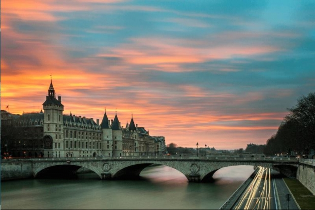 The Seine is an important waterway within the Paris Basin in the north of France.
